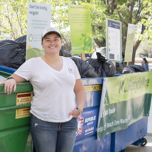 "Maelynn Dickson with ""Mount Recyclemore"""