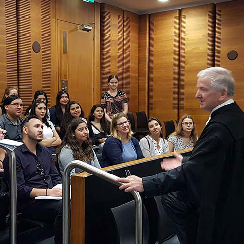 Australia Study Abroad Courtroom