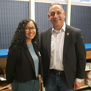 Miriam Tellez and Rep. Gil Cisneros