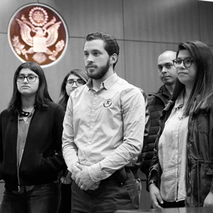 CSUF Students in Judge Ruth Bermudez Montenegro's courtroom