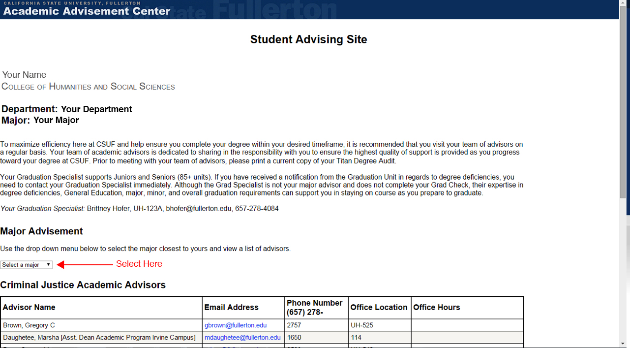 college of humanities and social sciences major advising step 3 finding your major advisor